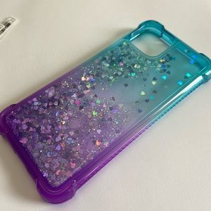 Blue purple Beautiful Glitter Case For iPhone 11